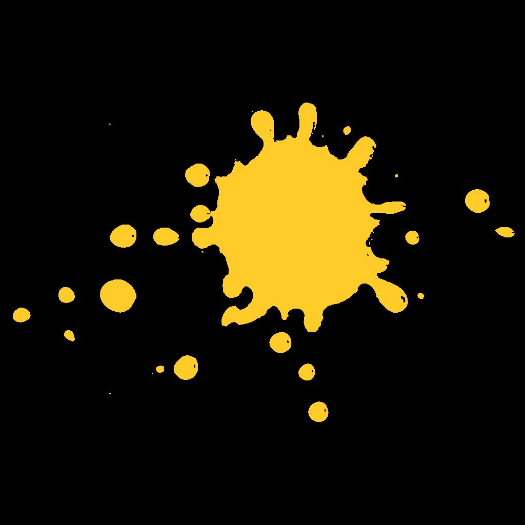 Tache d'encre jaune du logo Artem